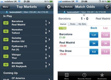 Betfair trading app iphone